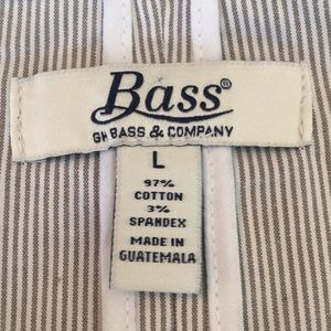 Bass Jackets & Coats - Bass & Company Brown & White Stipe Blazer NWT